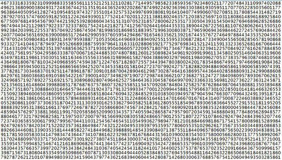 Descubren nuevo número primo con 23 millones de dígitos