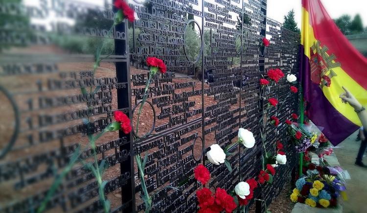 Detalle del memorial a las víctimas del franquismo.A.V.CASASOLA
