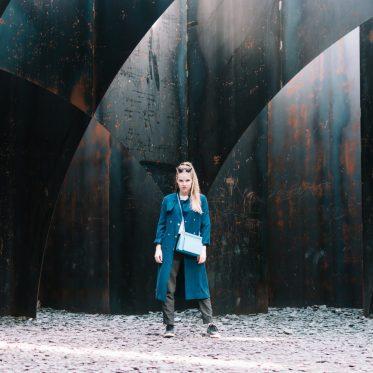 Mieke Dierckx - Double Pouch Blue Ciel