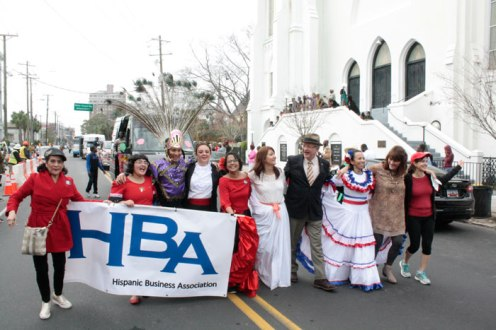 Junto con el Alcalde de Charleston John Tecklenburg