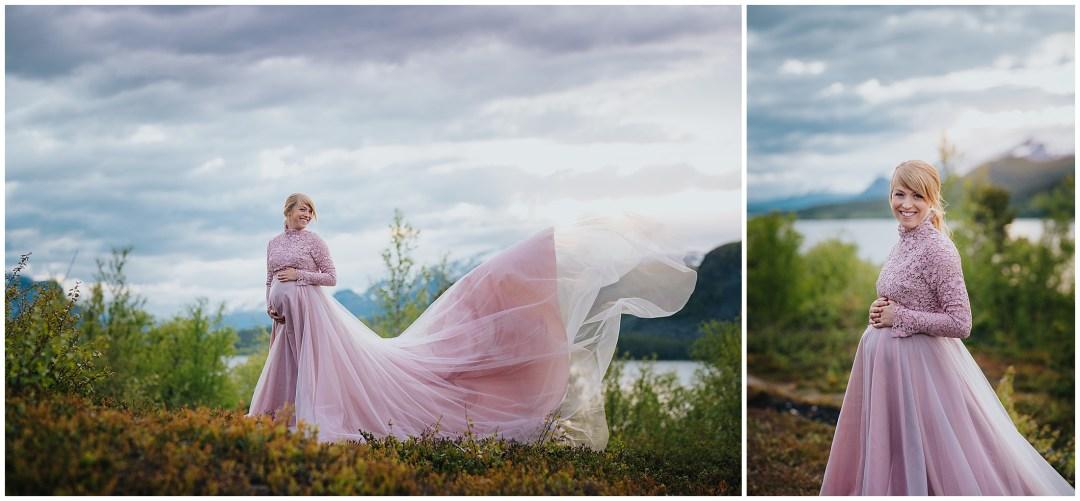 Gravidfotografering i Saltoulokta med Emma