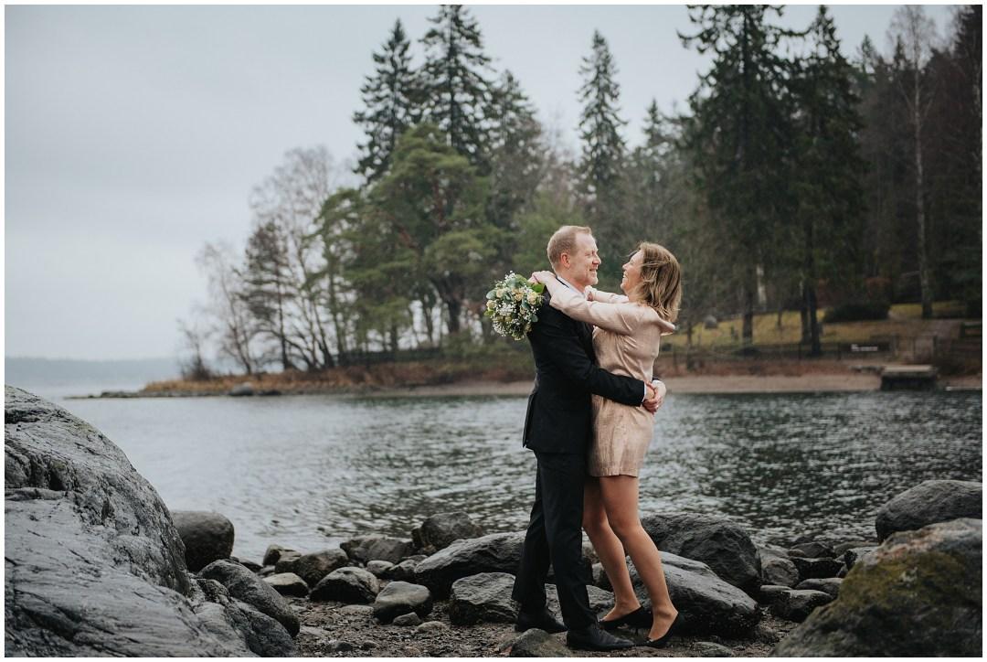 Lars och Sannas bröllop vid Bo badplats