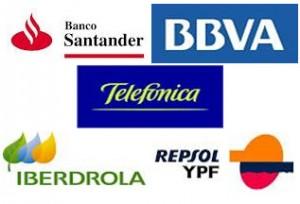 Telefónica, Iberdrola, Naturgy, Repsol, Santander, no aportáis nada.