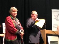 Lisbeth Stenberg & Peter Forsgren vid den litterara bokscenen