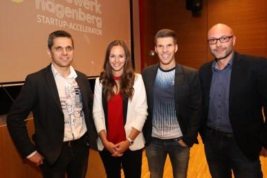 Business Angel Michael Altrichter, Florian Gschwandtner (Runtastic) und Gerold Weisz (akostart)