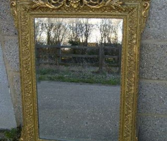 Antique French Gilt Mirror Late Th Century French Gilt Mirror From Napoleon Iii Era
