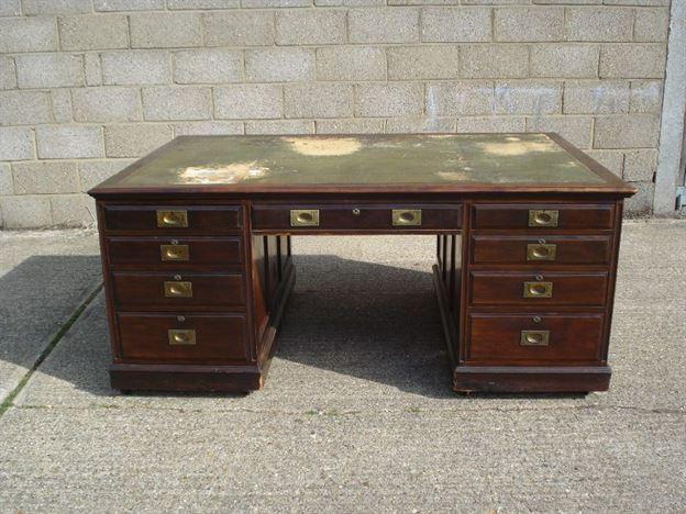 ANTIQUE FURNITURE WAREHOUSE Large Antique Partners Desk