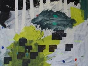 'Lawine', nachts, Öl auf Leinwand, 80 x 100 cm, 2013