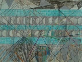 Plattenbau, Mischtechnik auf Papier, 21 x 29,7 cm, 2012