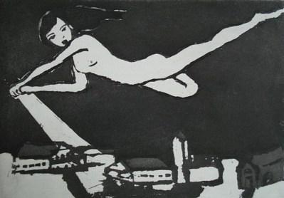 Lyn, Aquatinta, 14 x 20 cm, 2010