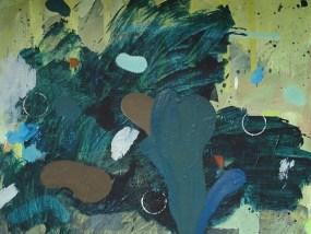 Im Gebüsch/Enzis, Öl auf Leinwand, 40 x 50 cm, 2009