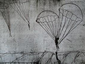 Fallschirmspringer, Vernis mou, 21 x 33 cm, 2006
