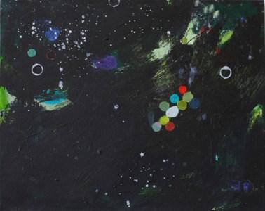 'Drops', Öl auf Leinwand, 40 x 50 cm, 2013