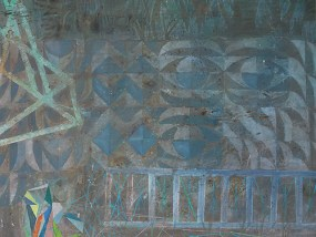 'Betonstrukturwand (G 7, G2)', Acryl auf Leinwand, 80 x 100 cm, 2014