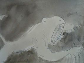 Böse und gefährlich, Tusche auf Papier, 21 x 27,9 cm, 2005