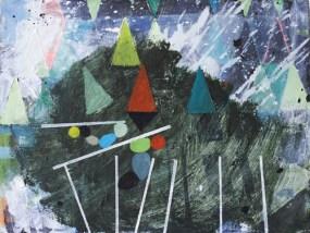 'Am Trapez', Öl auf Leinwand, 30 x 40 cm, 2013