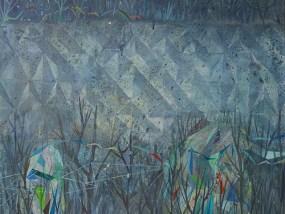 'Betonstrukturwand (G 1, G3, G5)', Acryl auf Leinwand, 80 x 100 cm, 2014