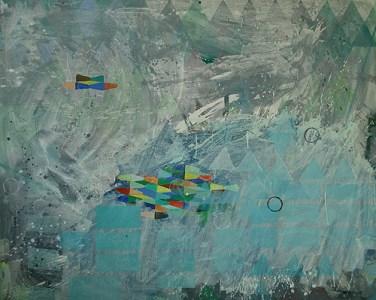 Madlitz, Acryl auf Leinwand, 160 x 200 cm, 2012