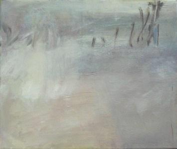 Nebelige Landschaft III, Öl auf Leinwand, 24,5 x 29,7 cm, 2004