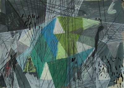 Manschnow, Mischtechnik auf Papier, 21 x 29,7 cm, 2011