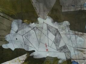 Oelzig, Mischtechnik auf Papier, 21 x 29,7 cm, 2009