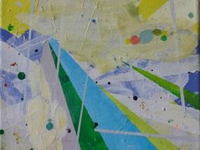 'Gebirge im Sommer', Öl auf Leinwand, 24 x 30 cm, 2013