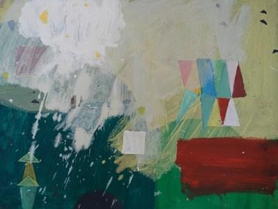 Wiese und Nebel, Öl auf kaschierter Hartfaser, 30 x 40 cm, 2008