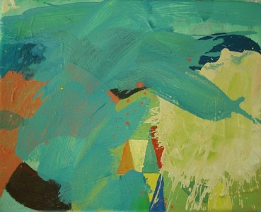 See(B)/Berge(A), Öl auf Leinwand, 24,5 x 30 cm, 2008