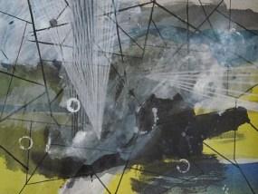 Blitzeinschlag, Mischtechnik auf Papier, 21 x 29,7 cm, 2009