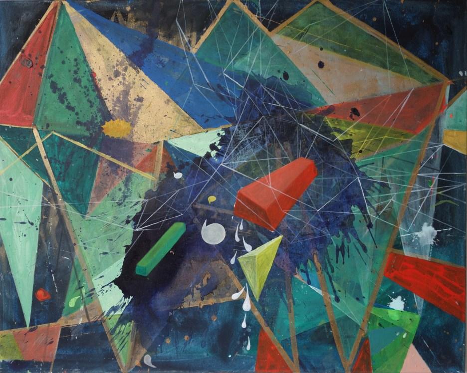 Rot, Blau, Grün, Acryl auf Leinwand, 80 x 100 cm, 2019