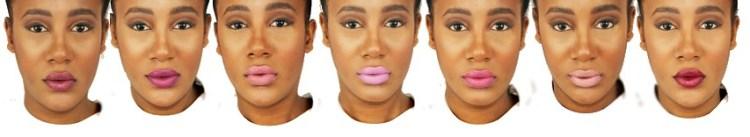 7 couleurs - Lookbook crayons rouge à lèvres avril - azae pur