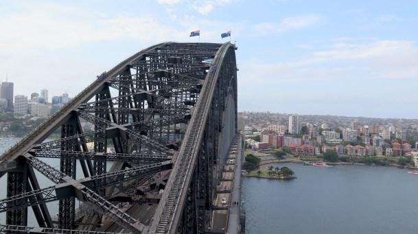 Le Harbour Bridge vu d'en haut...