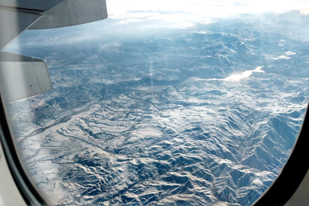 Montagnes enneigées de l'est de la Turquie vues du ciel