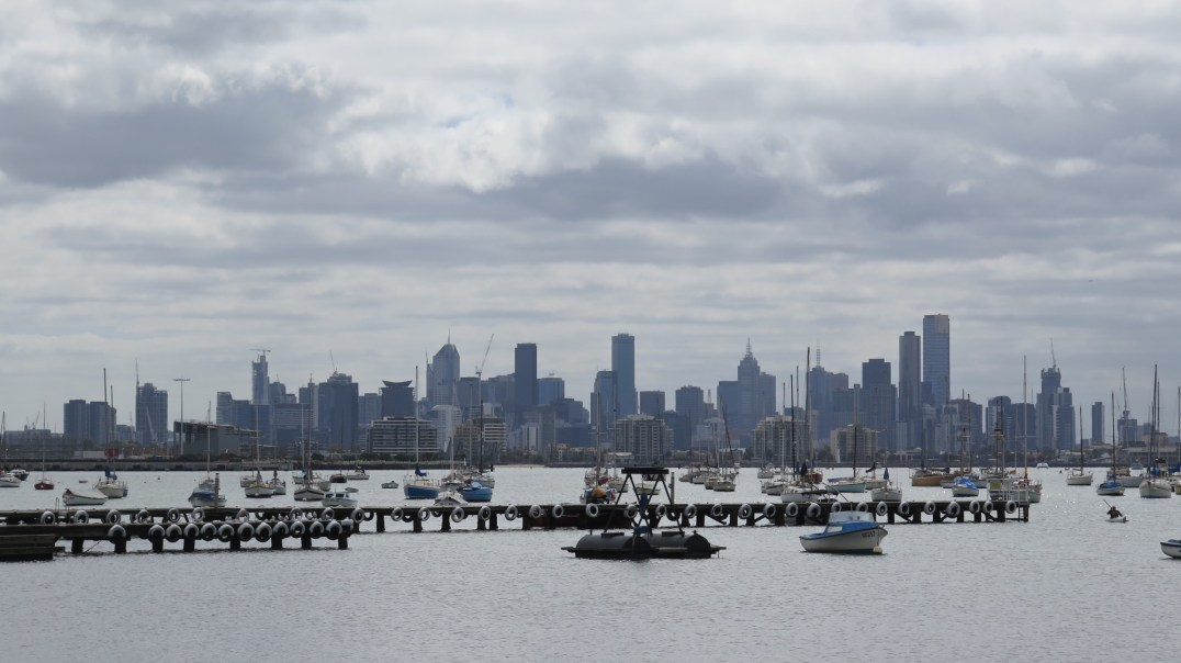 Vue de Melbourne depuis Williamstown