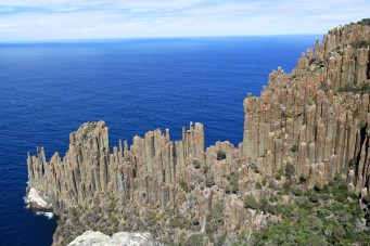 Colonnes de granite, au sud de Tasman Peninsula