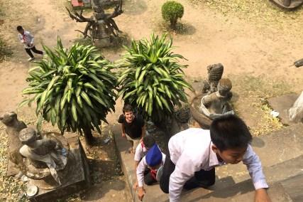 Embouteillage au Laos