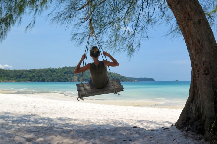 Balancoire Saracen Bay Koh Rong Samloem Cambodge blog voyage 12