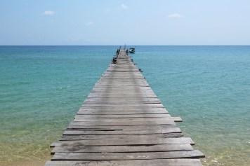 Ponton Sunset Beach Koh Rong Samloem Cambodge blog voyage 15