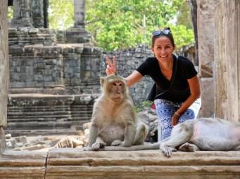 Bayon singes angkor cambodge blog voyage 29