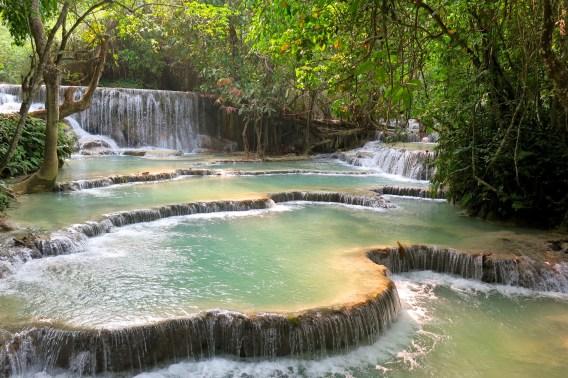 Bassins de la cascade Kuang Si, bilan du laos blog de voyage