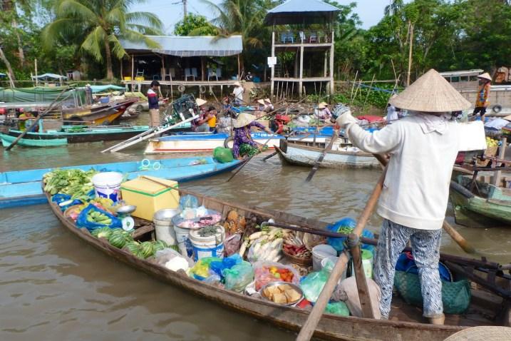 Pirogue Can Tho Delta Mekong Vietnam blog voyage 2016 30