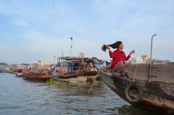 Marché flottant Cai Rang Can Tho Delta Mekong Vietnam blog voyage 2016 5