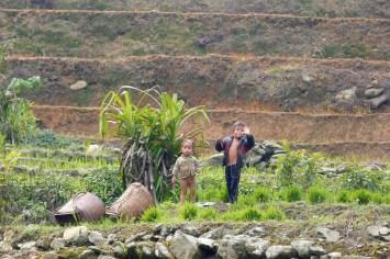 Enfants rizières Trek Sapa Vietnam blog voyage 2016 32