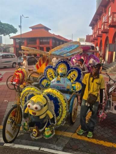 Trishaw Malacca Malaisie blog voyage 2016 3