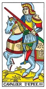 Tarot De Marseille Knight of Swords