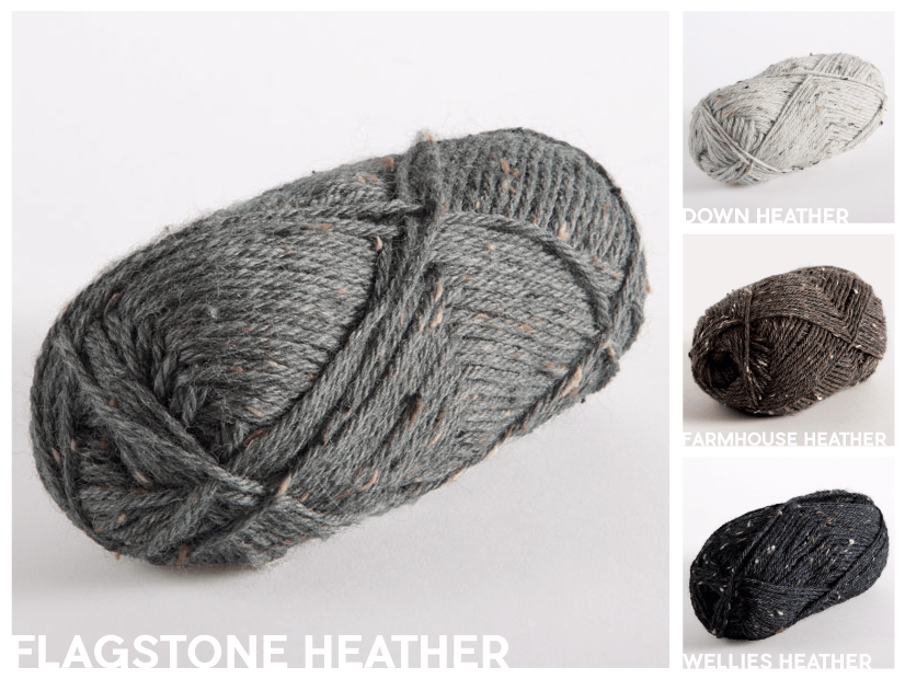 KnitPicks Wool of the Andes Tweed Grayscale