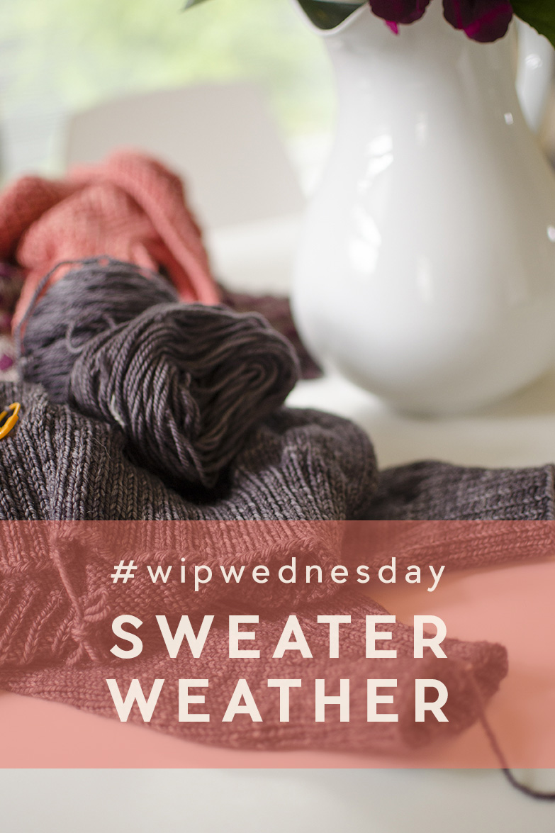 WIP Wednesday | Sweater Weather | This WIP in particular has been hanging out on the back burner for just over a year now. It's the super simple and cute Sweatshirt Sweater by Purl Soho and I really REALLY want to wear it this sweater weather season (which is pretty much starts now in the PNW), so I really REALLY need to hurry up and finish it!