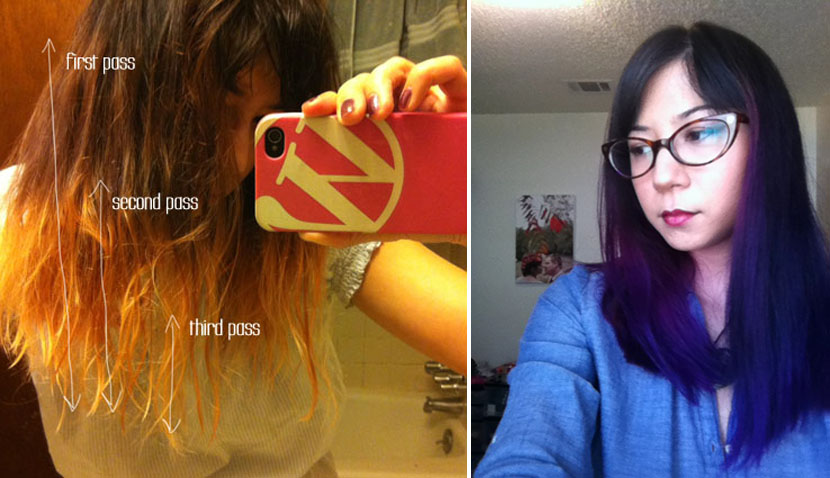 How To DIY Dyed Ombre Hair