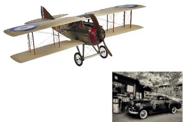 automobiles, airplane
