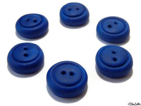 Chunky Round Blue Hand-Sculpted Clay Buttons by Eliston Button - About Me at www.elistonbutton.com - Eliston Button - That Crafty Kid – Art, Design, Craft & Adventure.